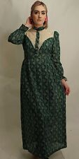 GENUINE VINTAGE 70'S FULL LENGTH MAXI DRESS SUMMER SIZE 8 10 FESTIVAL BOHO HIPPY