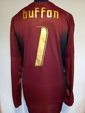 More details for italy goalkeeper gk number 1 shirt signed by gianluigi buffon with guarantee