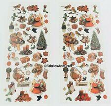 80 TRADITIONAL CHRISTMAS STICKERS-RETRO/VINTAGE-SANTA-CANDLE-ROBIN-XMAS TREE