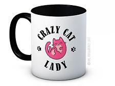 Crazy Gato Dama-Linda Divertida De Alta Calidad De Cerámica Taza De Café O Té