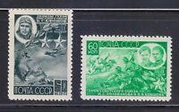 Russia 1944 MNH Mi 930-931.Heroes of WW2 set Safonov & Polivanova & Kovshova