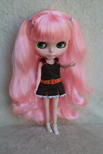 "12"" Takara Neo Blythe Dolls From Factory Nude Dolls Pink Curly Hair 27BL"