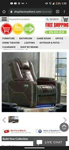 Sectional Leather Led Light Couch And Chair