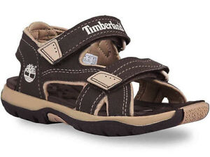 Timberland Mad River Boys Toddler Brown Tan Casual Shoes 2 Strap Sandals 43862