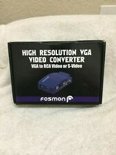 Fosmon High Resolution VGA to RCA Video or S Video Converter