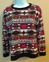 Divided by H&M Womens Sweater Southwest Aztec Indian Design Size Small S