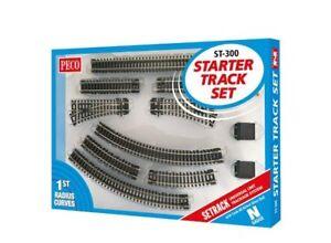 N gauge Starter Track Set, First Radius - Peco ST-300 code 80 -