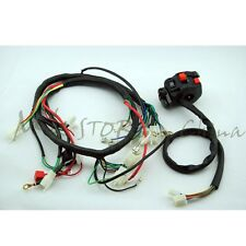 QUAD WIRING HARNESS&ClUSTER SWITCH CB CG150 200 250cc Chinese Electric start