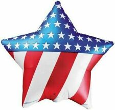 "USA STARS AND STRIPES PATRIOTIC STAR 4TH JULY CELEBRATION 18"" FOIL BALLOON!"