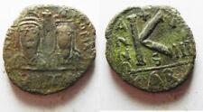 Zurqieh -aa8513- Byzantine Half Follis coin of Justin Ii and Sophia - Carthage M