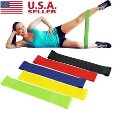 5 Colors/set Yoga Exercise Tension Band Belt Stretch Elastic Training Fitness US
