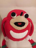 Ugandan Knuckles hand puppet custom handmade personalised plush toy sonic meme