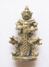 Buddhistischer Tempelwächter,tanzend im Prunkgewand,Bronze.A