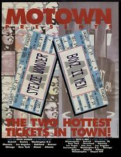 1995 MOTOWN RECORDS PRESENTS STEVIE WONDER OR BOYS II MEN CONCERT PROMO AD