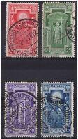 1933 ANNO SANTO I PRIMI 4 VALORI nn° 345 - 348 USATI - € 10,00