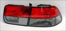 96-00 Honda Civic 2D Coupe Diamond Red Smoke Tail Light
