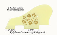 CASINO 2007 Pickguard ES295 Creme W/Gold Floral for Epiphone Guitar Project NEW