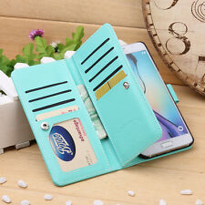 Magnetic Hybrid Leather Wallet Card Case Cover For Samsung Galaxy S6 edge + Plus