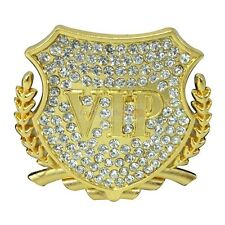 2x Luxury Crystal VIP Gold Metal Side Trunk Badge Emblem Sticker For Italy Fiat