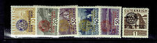 AUSTRIA  B57-B62 ROTARY CONVENTION VIENNA 1931 overprinted MNHVF rotary emblem