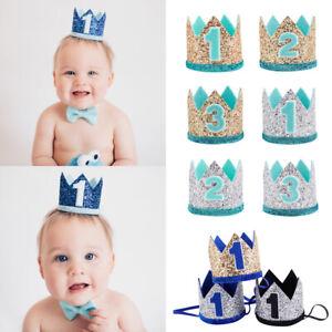 Elastic Baby Birthday Hat Floral Headwear Crown Hair Band Party Headdress