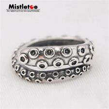 Octopus Tentacles 925 Sterling Silver Ring Adjustable Biker Punk Gothic Retro