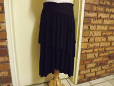 BNWT Suzanne Grae Fake Wrap Skirt with Asymmetrical Tiers sz 12 RRP $59.95