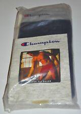 Champion 100% Cotton Ribbed Button Fly Black Boxer 1993 Sz Small 28-30 Nos