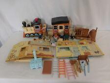 Calico Critters Maple Town Train + Building + Sylvanian Families Vintage Rare
