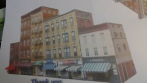 N scale Downtown Storefront Buildings pre-cut, pre-scored cardstock kit