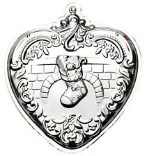 2014 Wallace Heart with Stocking Sterling Christmas Ornament th Edition