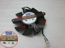 For DELL GTX560TI graphics card fan AVC DASB0815B2U 12V 0.6A 4-Pin Ball