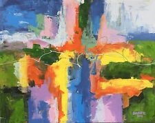 New ABSTRACT Original Fine Art PAINTING DAN BYL Modern Contemporary Huge 5ftx4ft