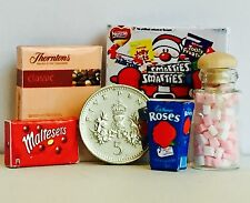 DOLLS HOUSE MINIATURE CHOCOLATES & SWEETS for CHRISTMAS / XMAS!! Handmade 1:12th