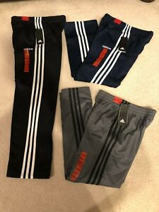New Adidas Youth Boys Fleece Lined Sweatpants Black Navy Blue Gray S M L XL