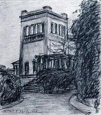 PROPYLÄEN Königsplatz  München Kohlezeichnung 1941, Richard Pietzsch 1872-1960