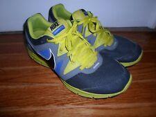 Nike LunarFly 3 Grey Blue Fluoro Green Running Sneakers Shoes 487753-007 Sz 10