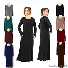 Plain Slim Fit Jersey Abaya/ Julbab/ Hijabs/ Maxi Dress 11 Colours