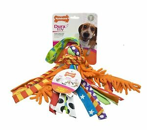 Nylabone Happy Moppy Medium Interactive Shake and Tug Toy for 35 lb Dogs