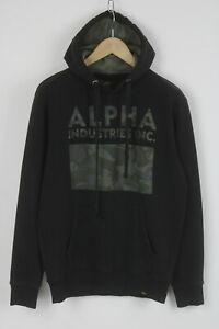 ALPHA INDUSTRIES LKZ 10014 Men MEDIUM Camouflage Polyester Blend Hoodie 25700-JS