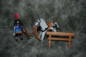 (bac15) playmobil 9096 taverne medieval : chevalier et cheval