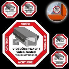 5 Warnaufkleber Achtung Videoüberwachacht WENKO Videoüberwachung Video Aufkleber