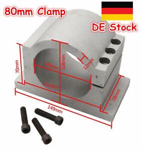 【DE】 Diameter 80mm CNC Spindle Aluminum Bracket Motor Mount Clamp for CNC Router