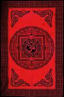 Rot Schwarz Keltisch OM Tagesdecke Bett Sofa Überwurf, Tischdecke Wandbehang