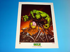 Incredible Hulk Lithograph Marvel Comics Dale Keown Art Avengers Limited Edition
