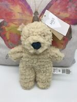 M&S Marks & and Spencers flat cream teddy bear comforter soft toy NEW 05605811