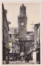 CPSM 14500 VIRE la tour de l'Horloge rue animée Edit CAP
