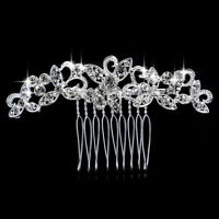 Wedding women hair bride Accessories Silver Hair Comb piece Clip Pin Bridal