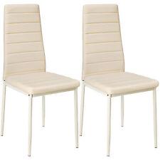 2x Sillas de comedor Juego elegantes sillas de diseño modernas cocina beige