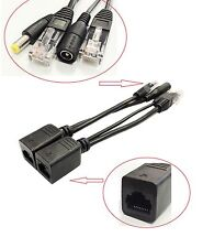 Power over Ethernet PoE Adapter Injector + Splitter Kit